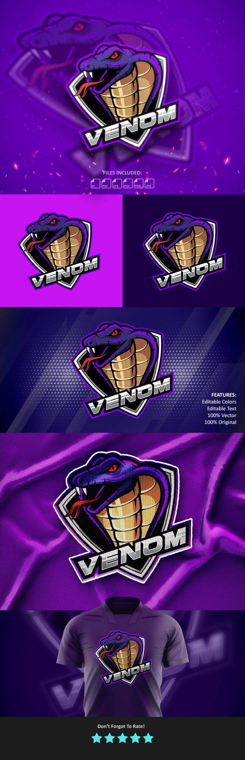 Venom-Mascot-Gaming-Logo-Preview-Generator