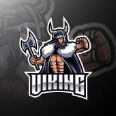 Viking Warrior Mascot Logo
