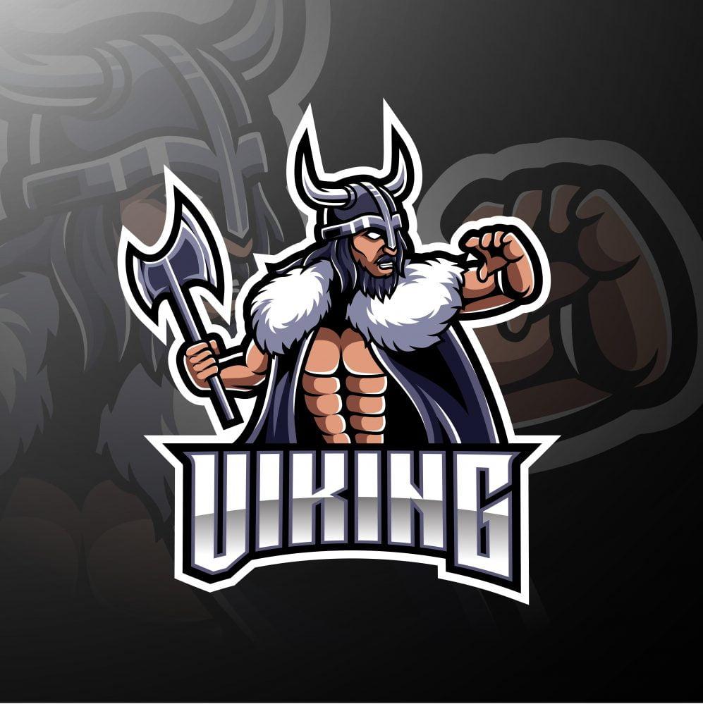 Viking Warrior Mascot Logo