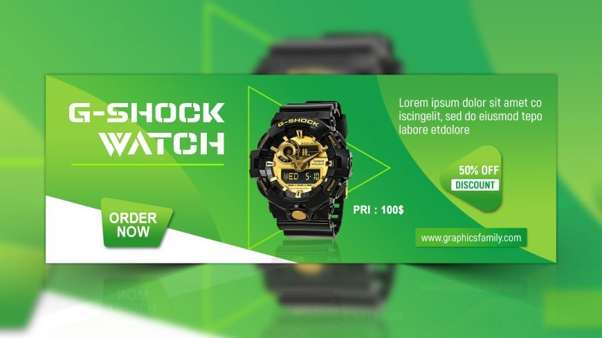 Watch Shop Facebook Cover Design
