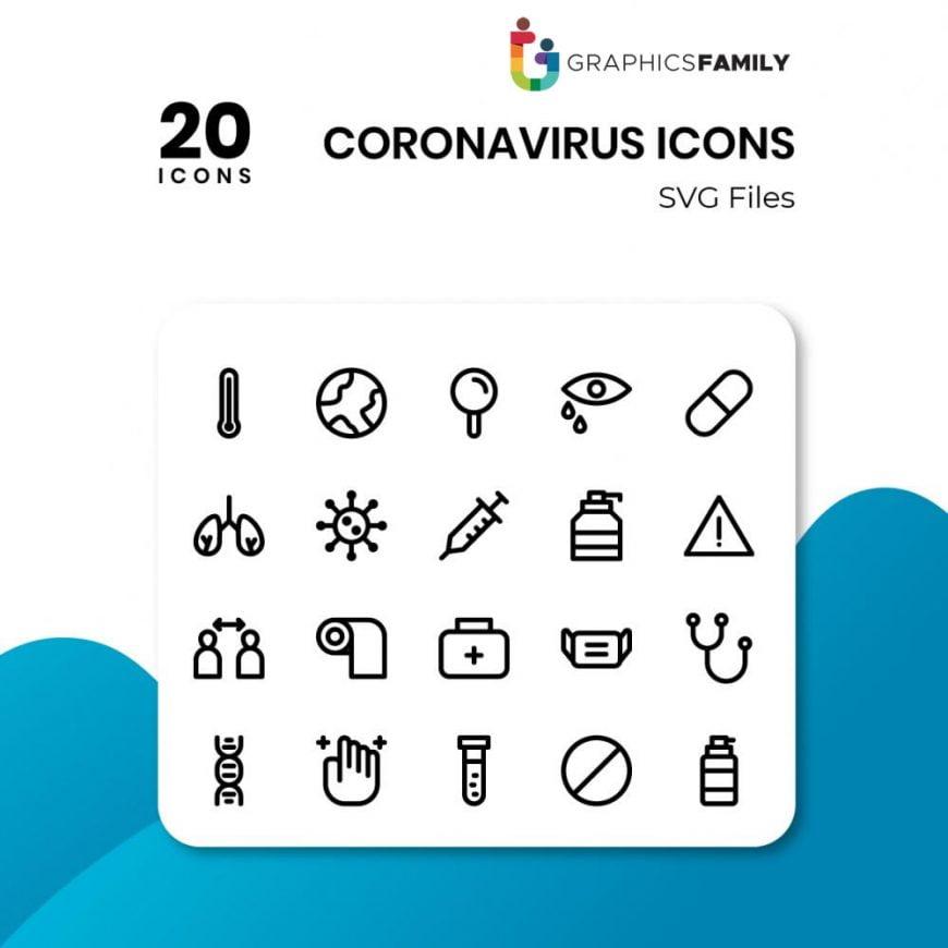 free coronavirus icons