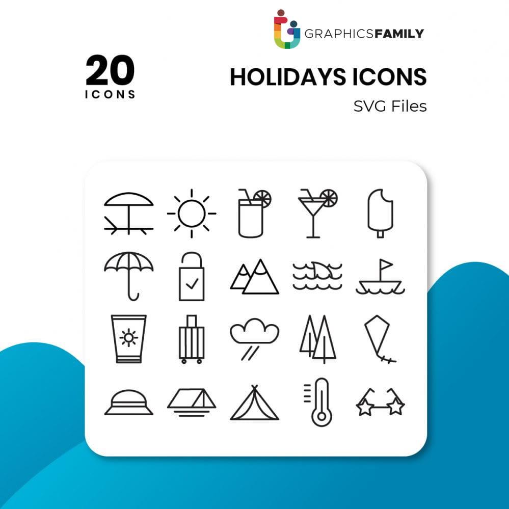 free holidays icons