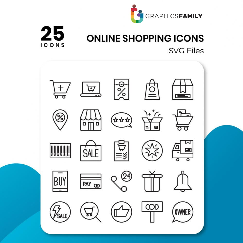 free online shopping icons