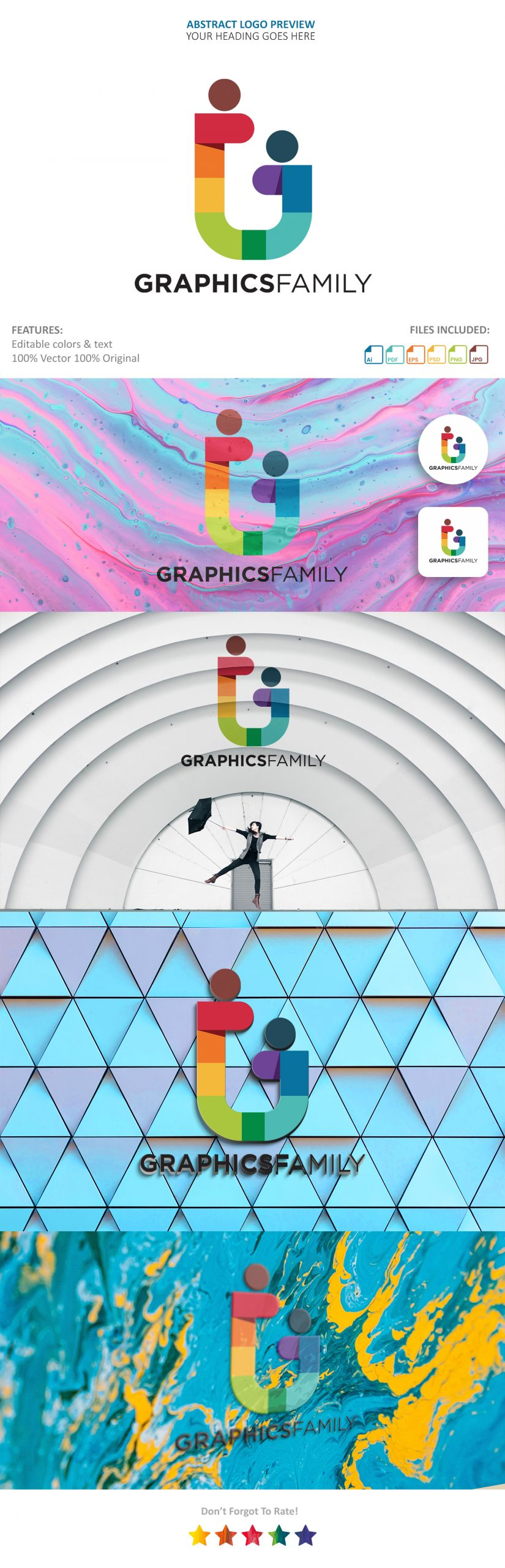 Abstract Logo Showcase Mockup by GraphicsFamily