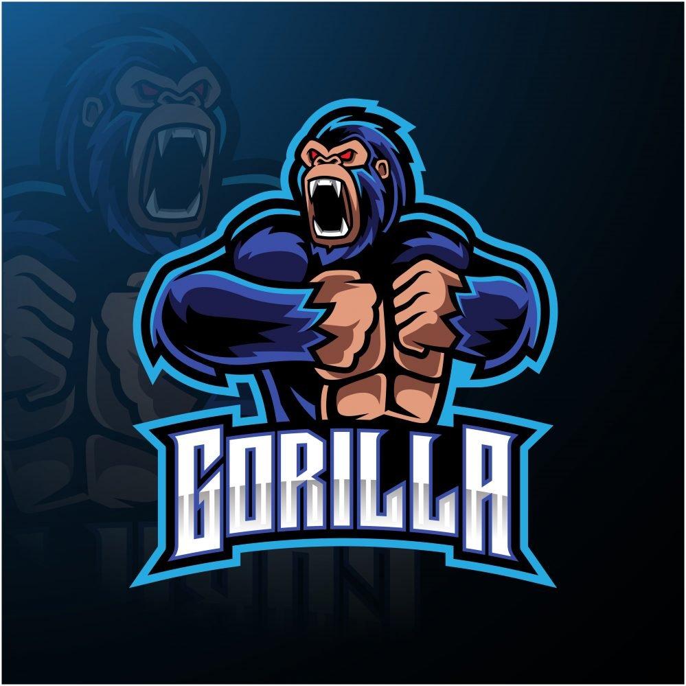 Angry Gorilla Esports Mascot Logo