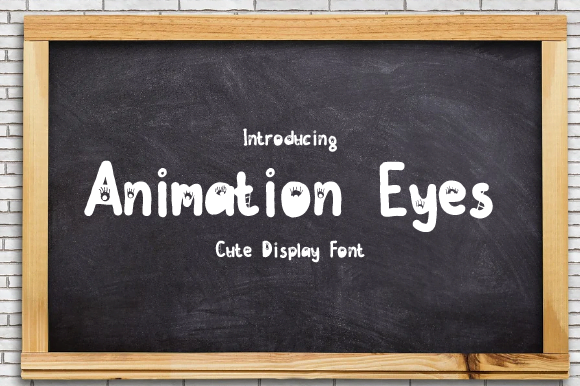 Animation-Eyes-Font-Download