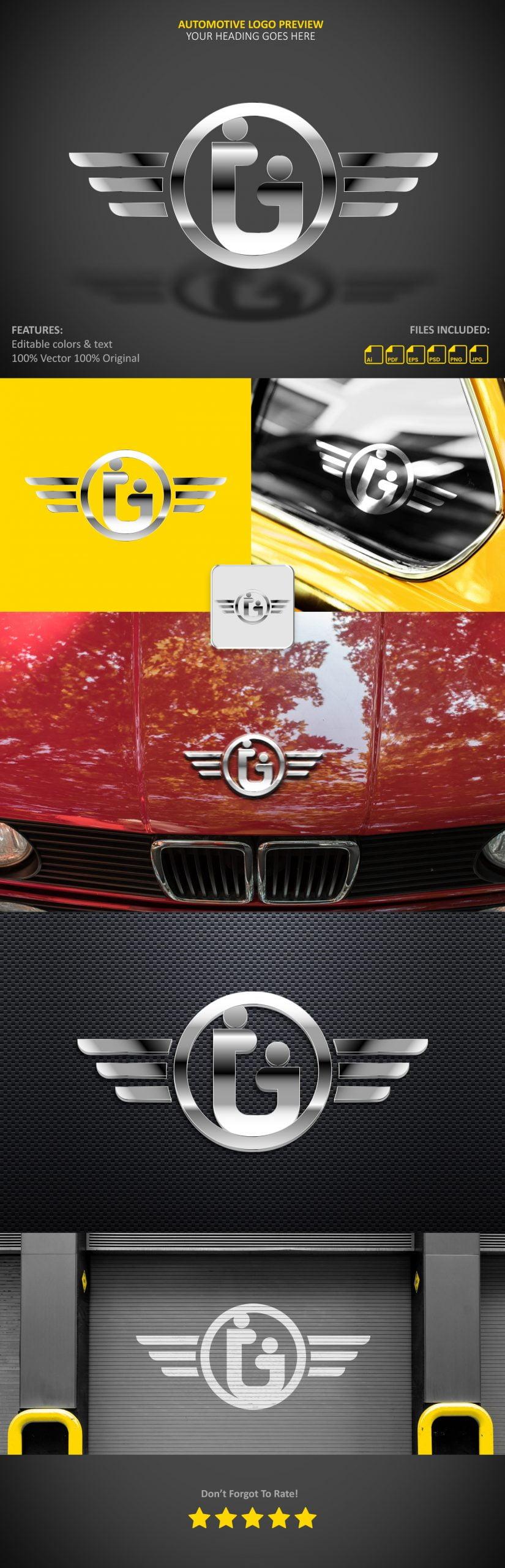 Automotive Logo Presentation Mockup by GraphicsFamily