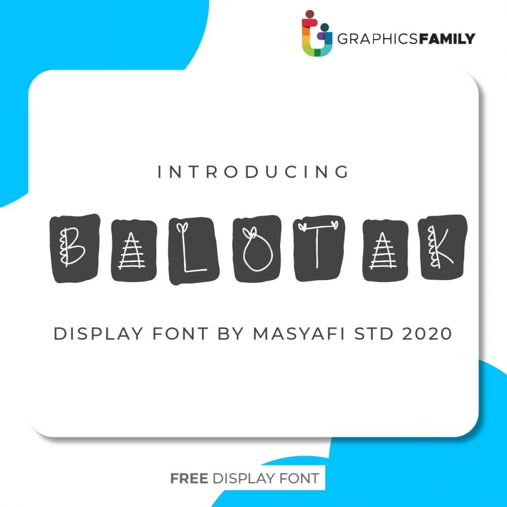 Free BALOTAK Font Download