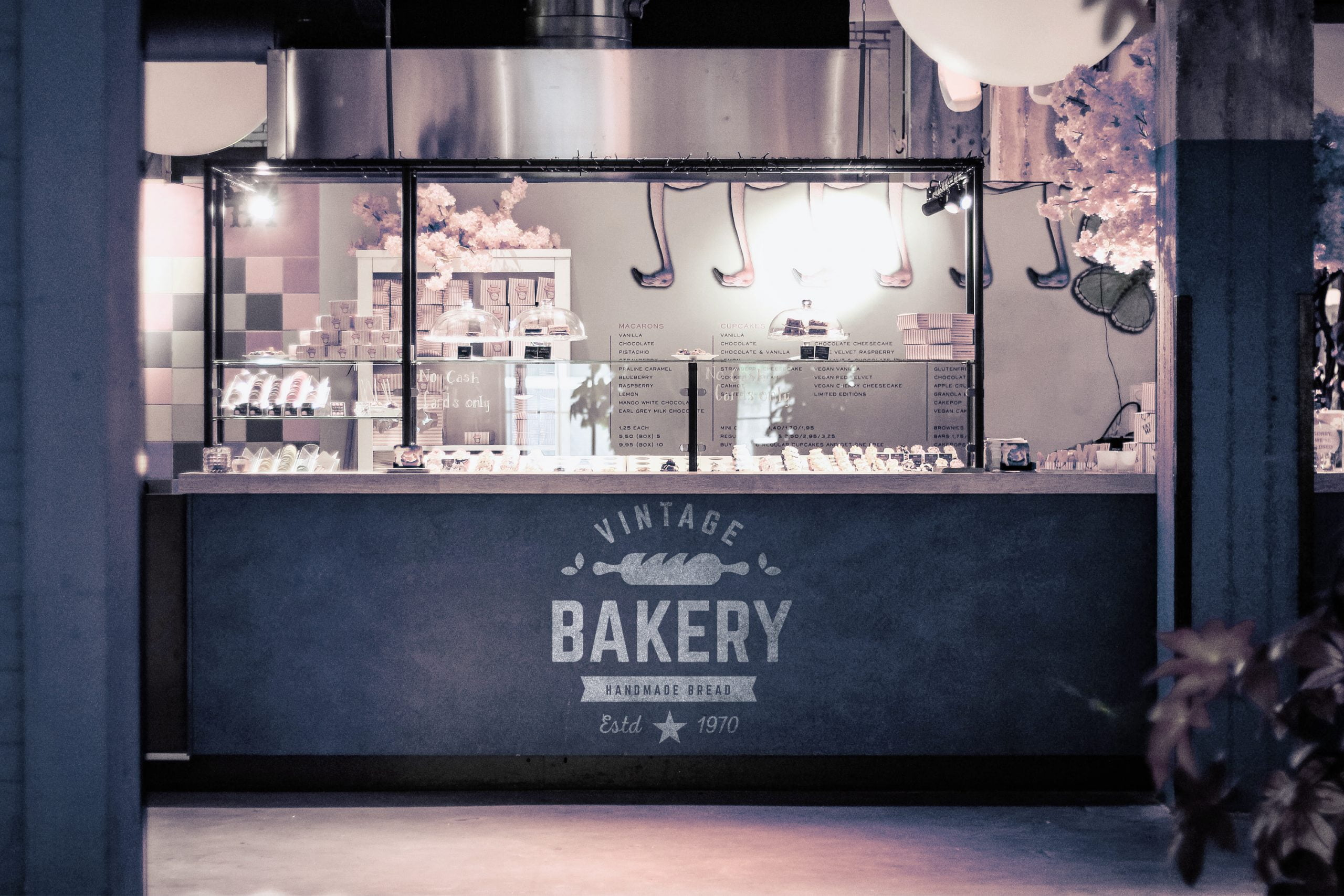 Bakery Shop Logo Mockup by GraphicsFamily