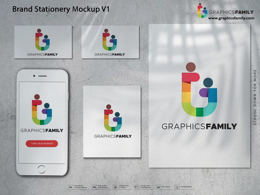 Best Free Brand Stationery Mockup PSD Download