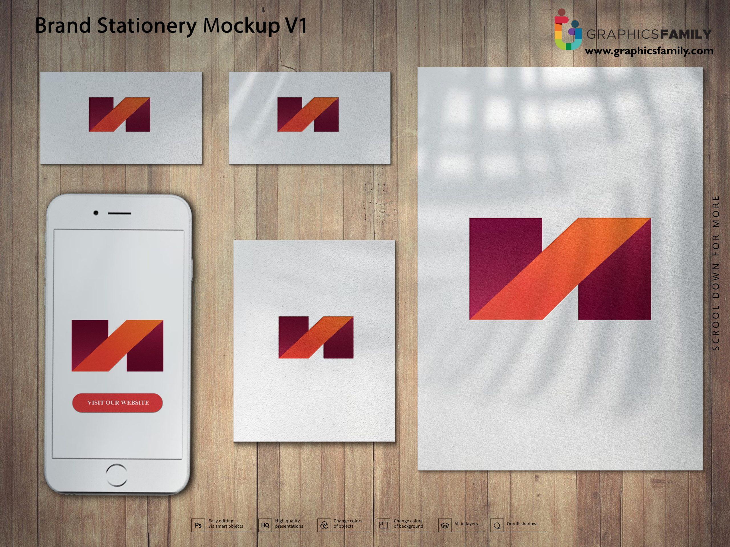Best Free Brand Stationery Mockup PSD Download