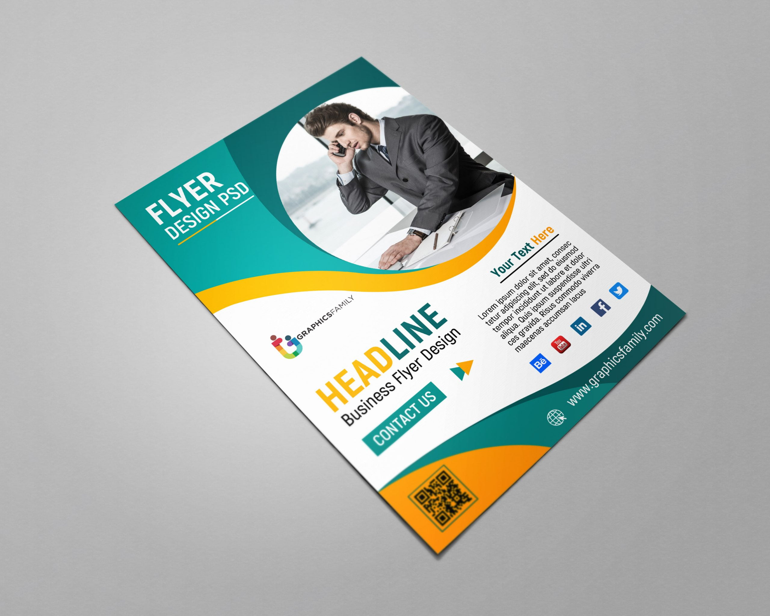Business Flyer Template Design PSD