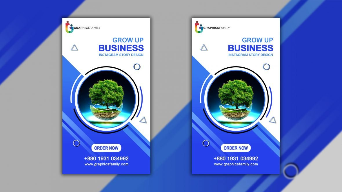 Business Promotion and Corporate Instagram Story Template Free Psd