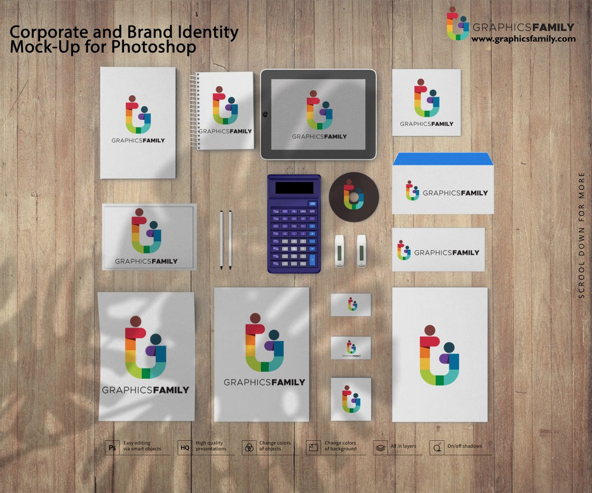 Corporate and Brand Identity Mock-Up for Photoshop