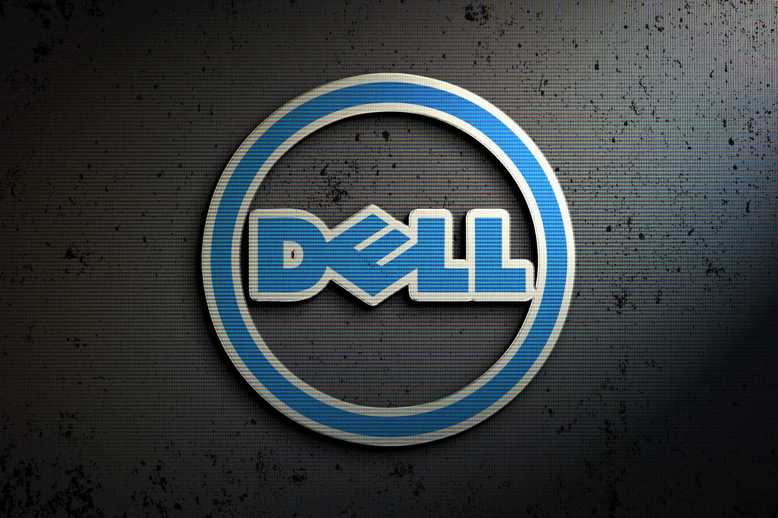 Dell Logo Example for Photoshop Logo Mock-up with Retro Effects