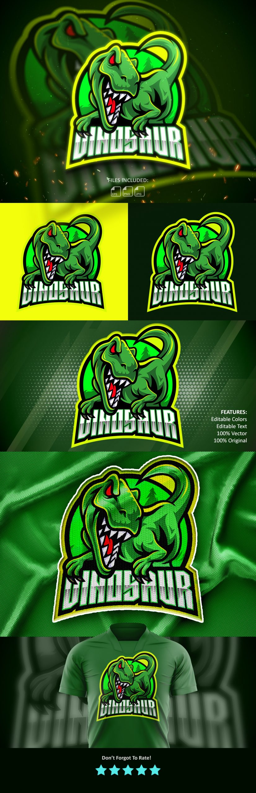 Dinosaur-Esports-Mascot-Logo-Free-Download