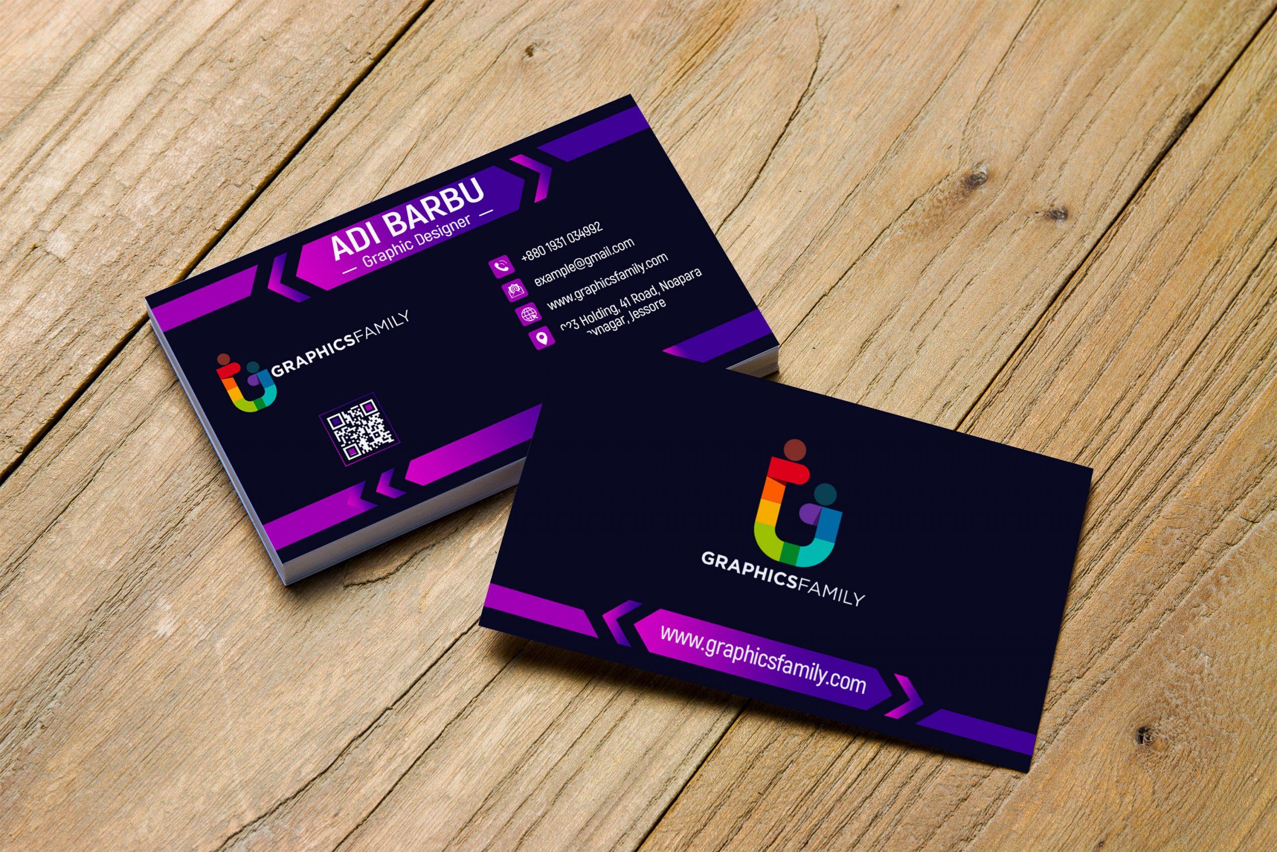 Download Elegant Dark Business Card Design