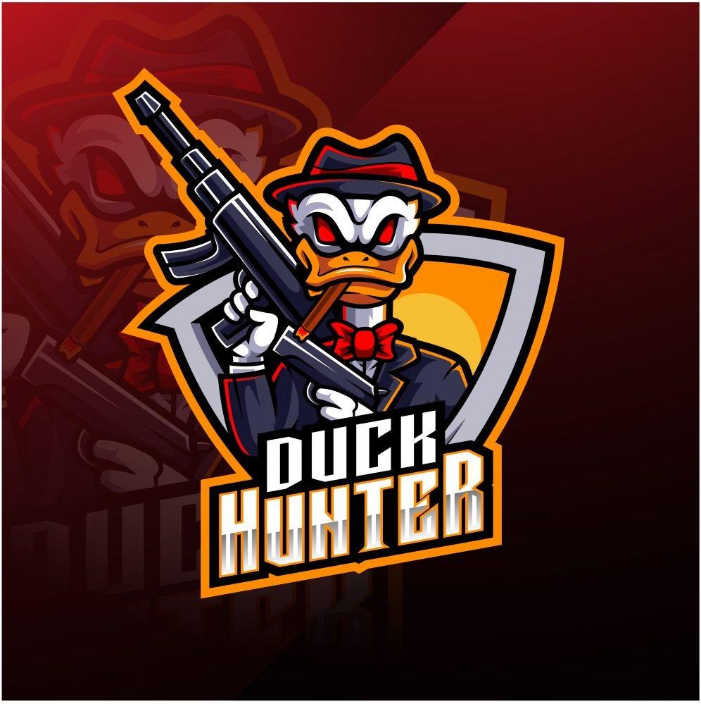Duck Hunter Esports Mascot Logo