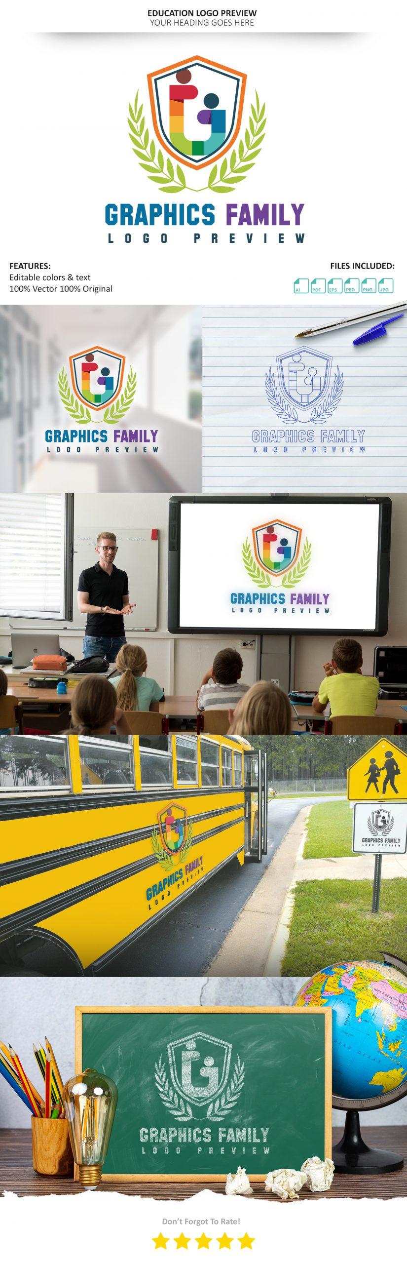 Free-Education-Logo-Presentation-Mockup Download