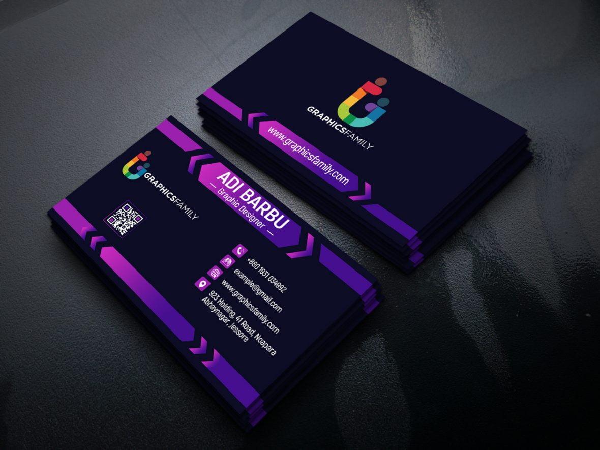 Elegant Dark Business Card Design