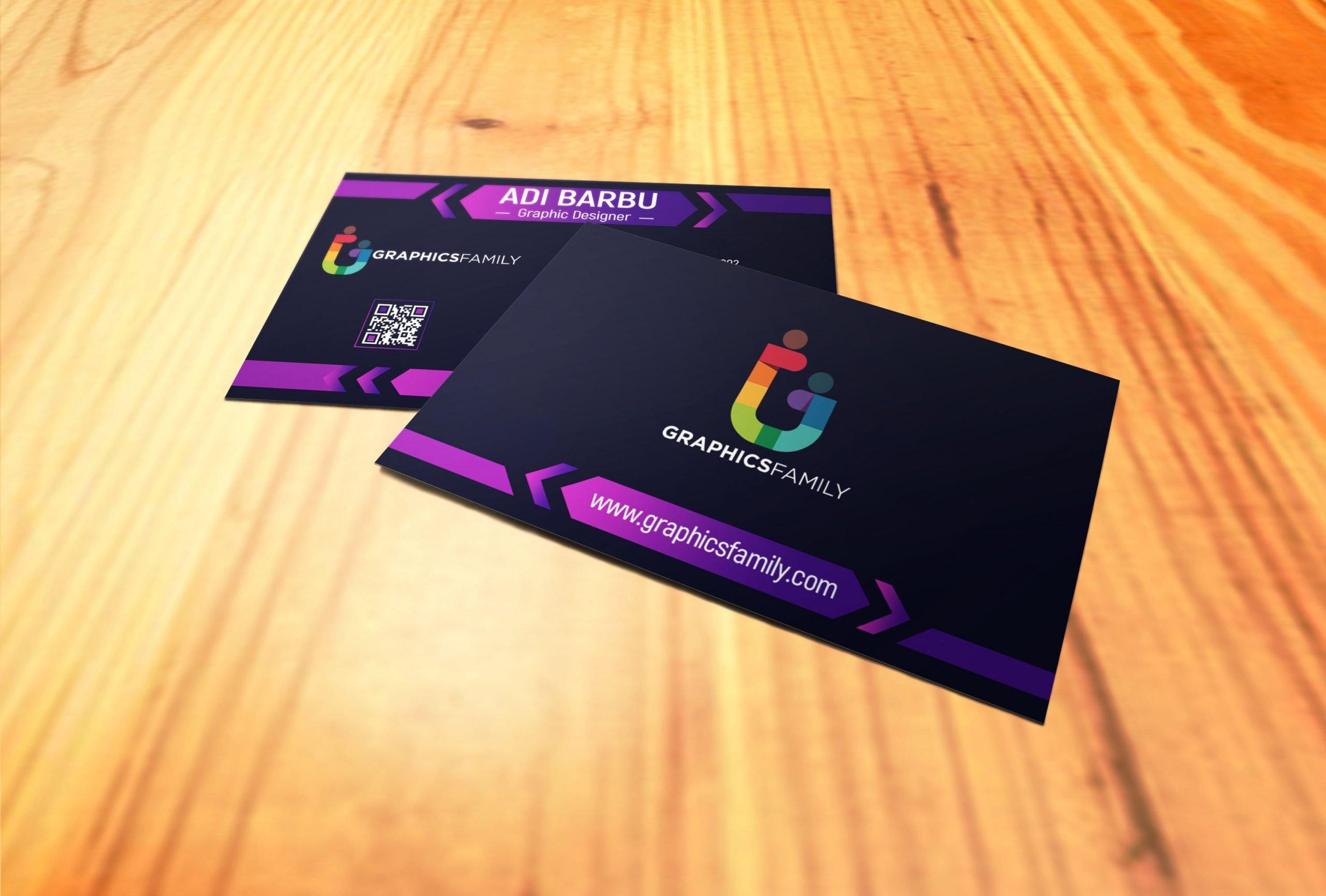 Elegant Dark Business Card Design Download