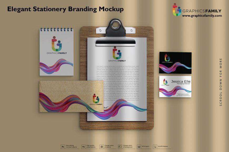 Elegant Stationery Branding Mockup