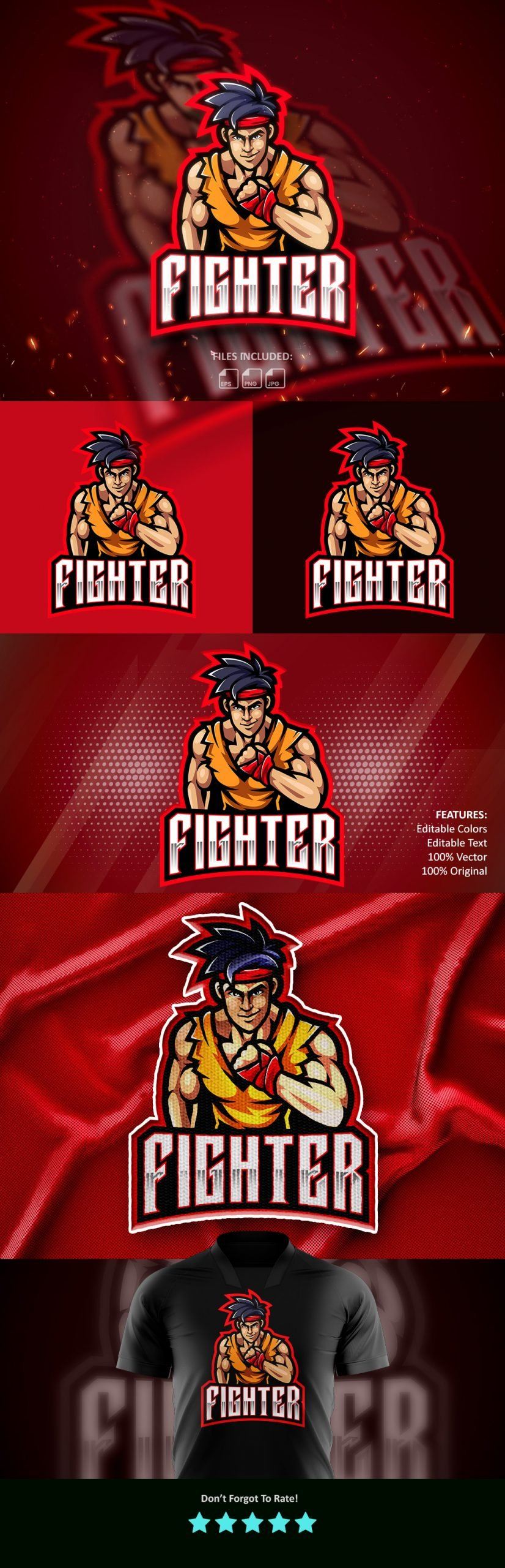 Fighters-Esports-Gaming-Clan-Mascot-Logo-Free-Download