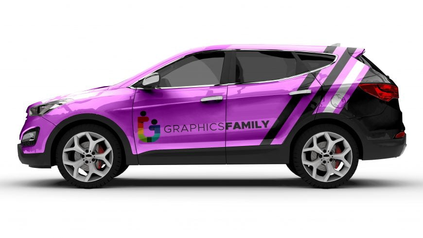 Free 4x4 Crossover Automobile Mockup by GraphicsFamily