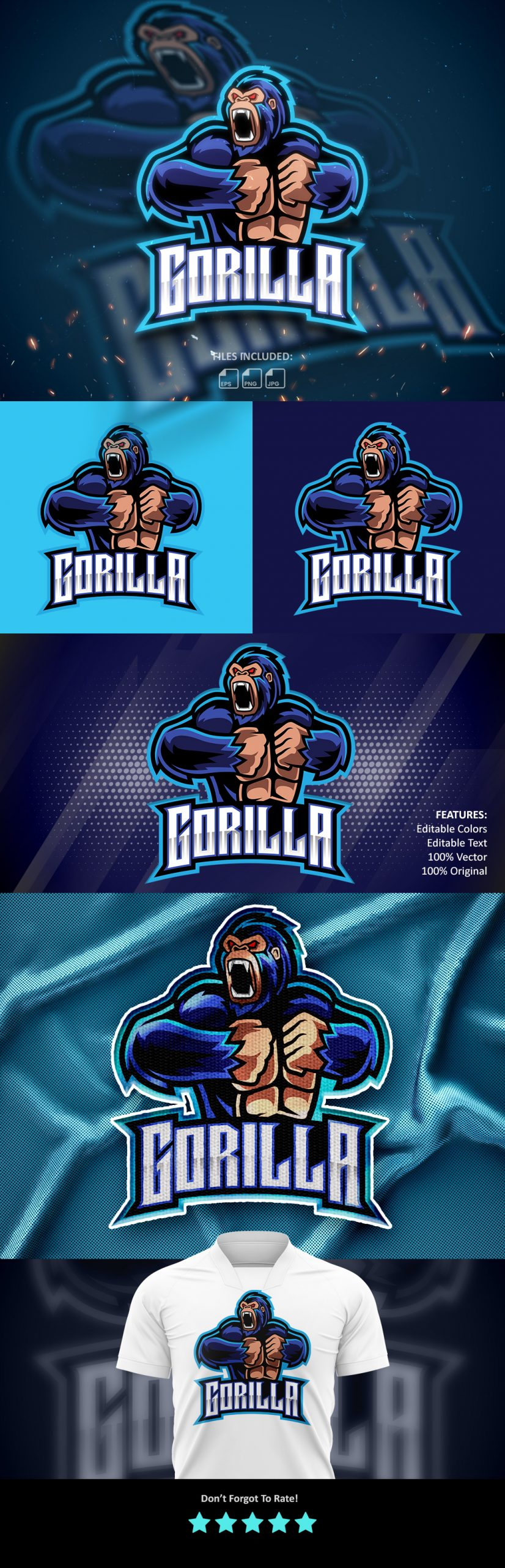 Free-Angry-Gorilla-Esports-Mascot-Logo-Download
