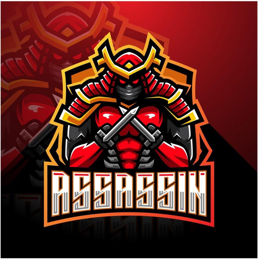 Free Assassin Esports Gaming Clan Mascot Logo