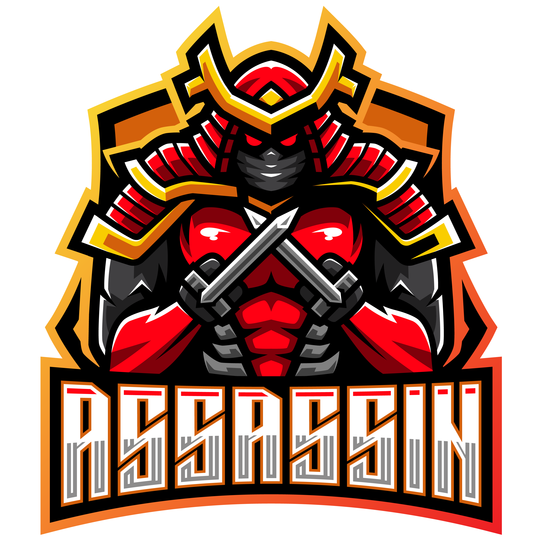 Free-Assassin-Esports-Gaming-Clan-Mascot-Logo-PNG-Transparent
