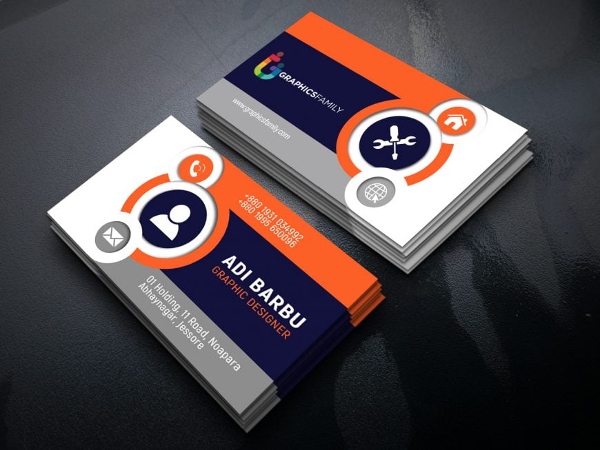 Free Beautiful & Elegant Business Card Design Download