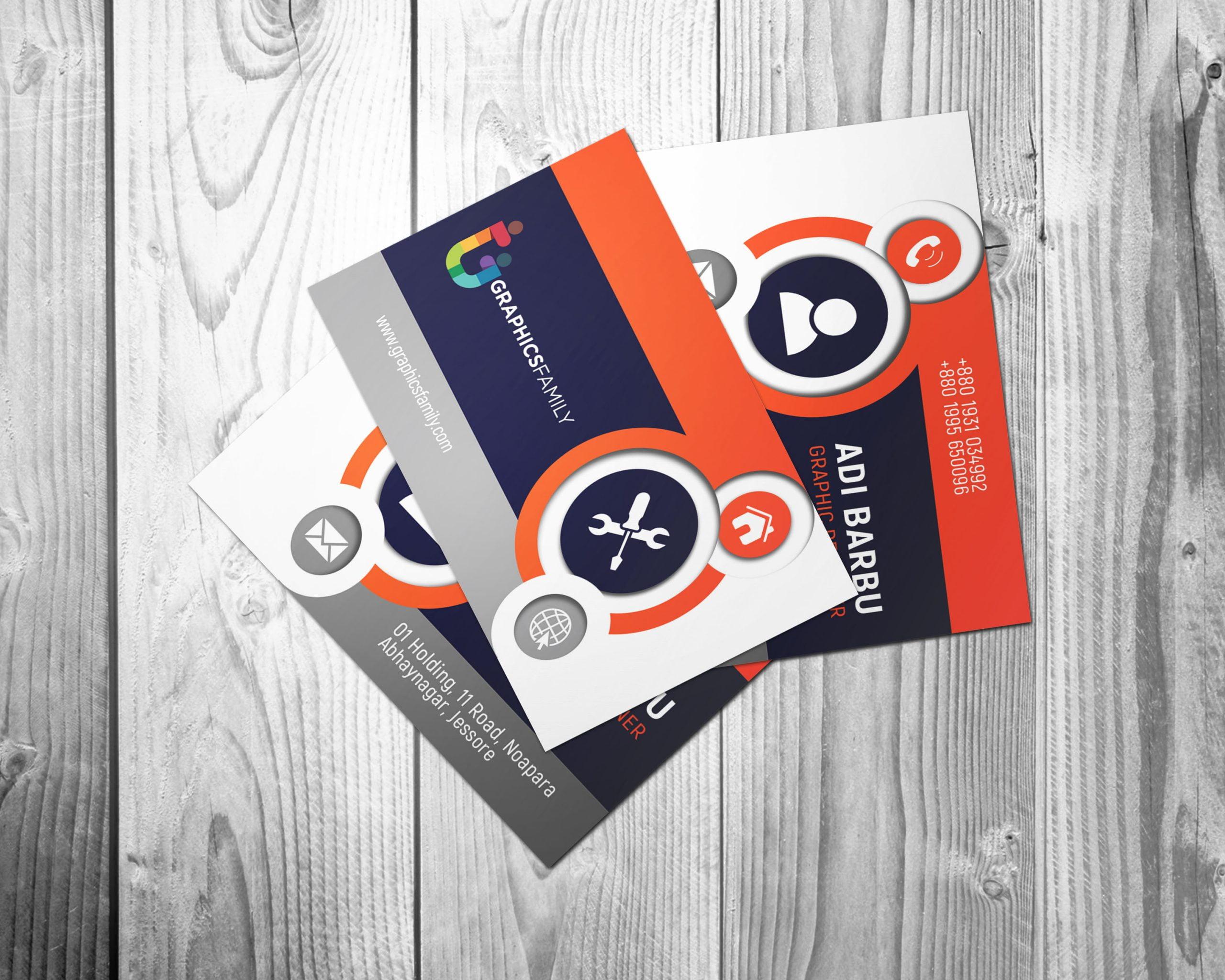 Free Beautiful & Elegant Business Card Design Template