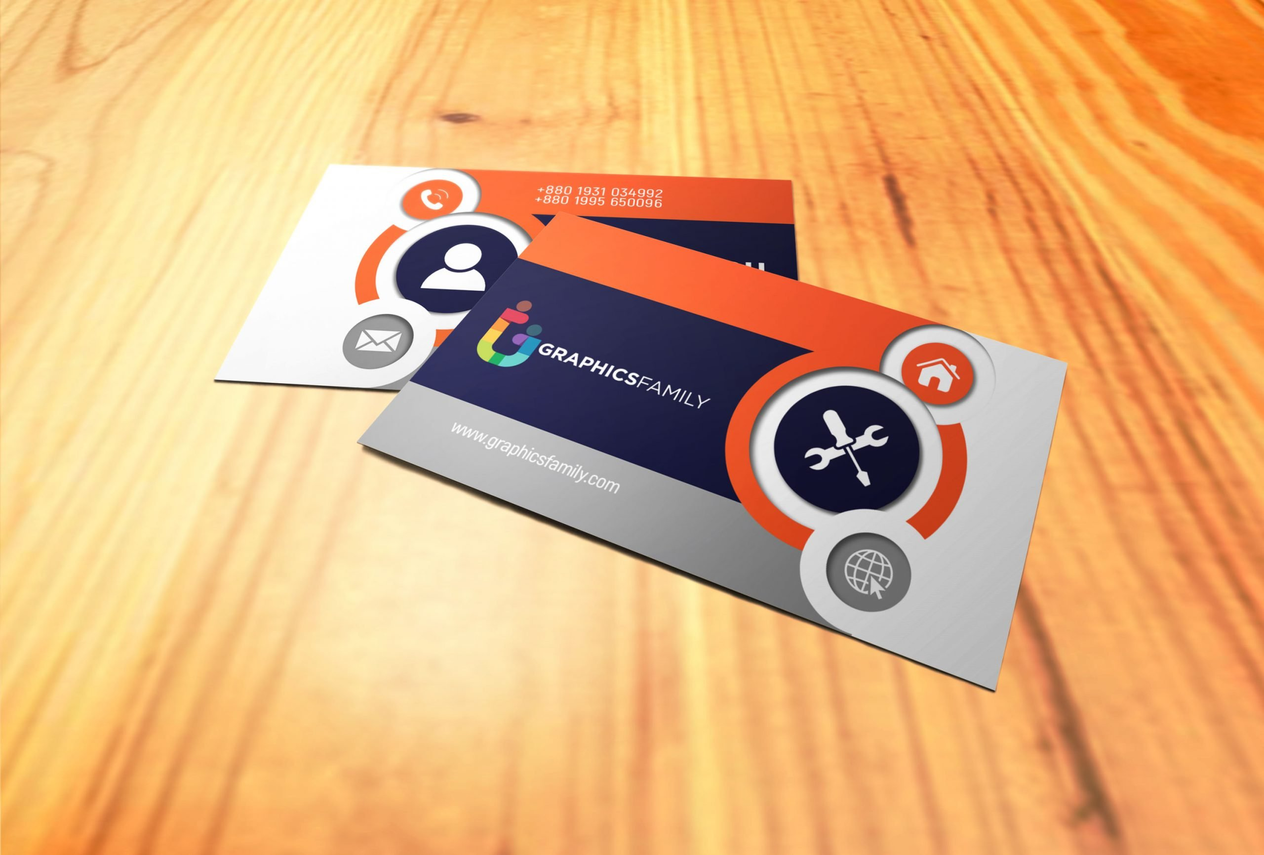 Free Beautiful & Elegant Business Card Template Download