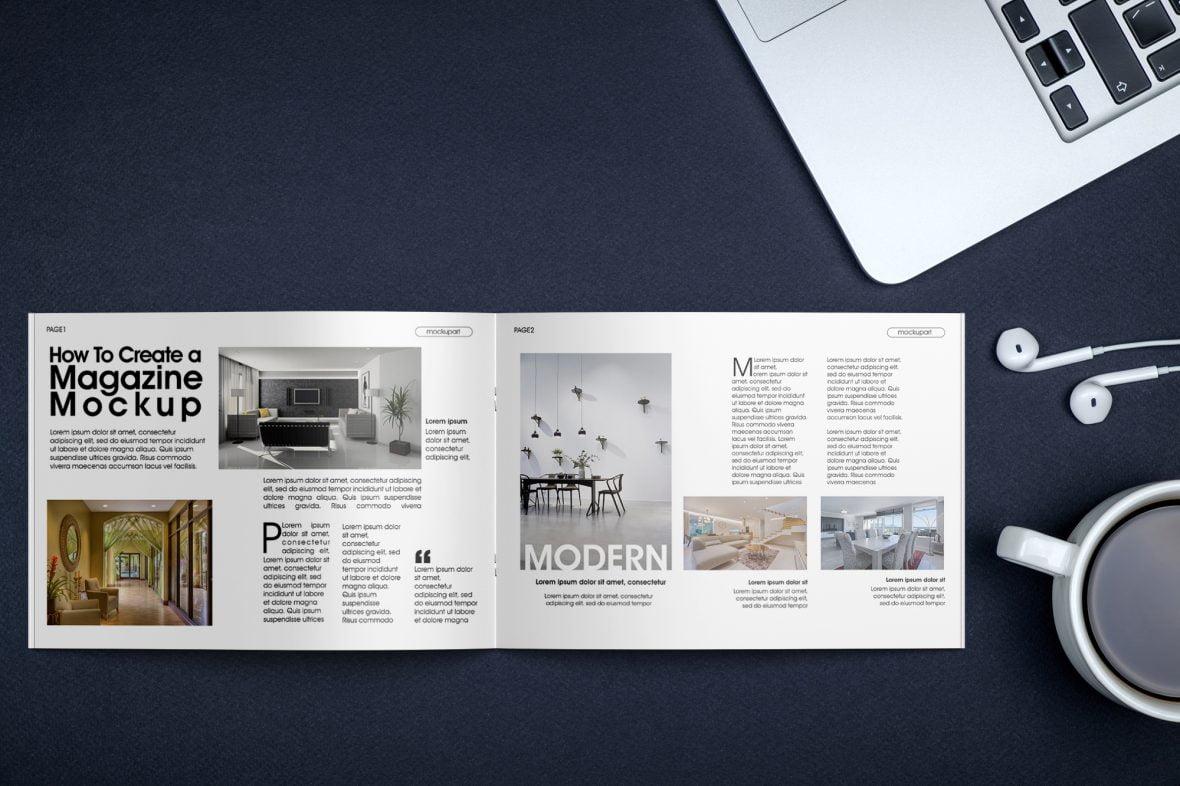 Free-Bi-Fold-Brochure-PSD-Mockup