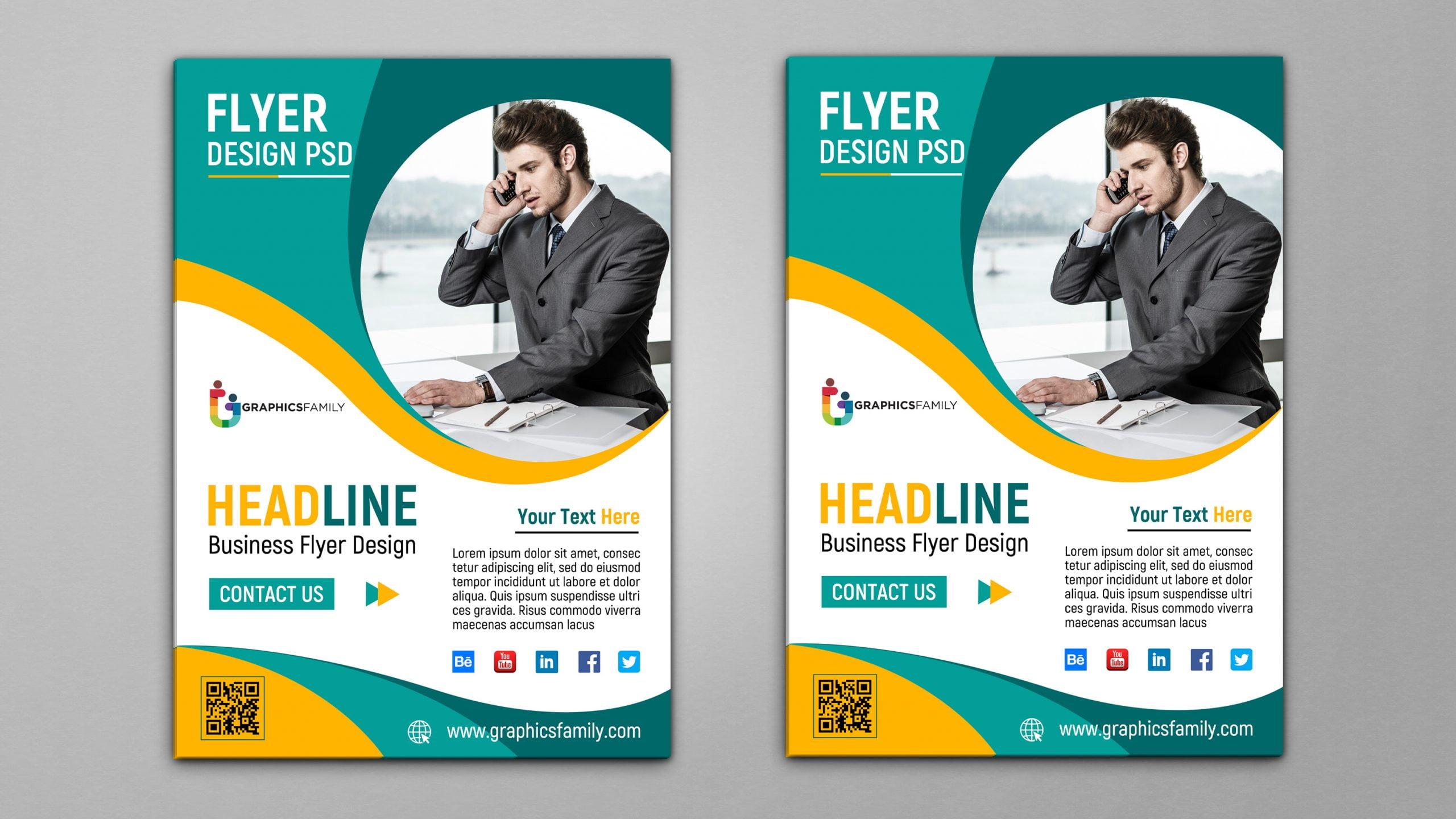 Free Business Flyer Template Design PSD
