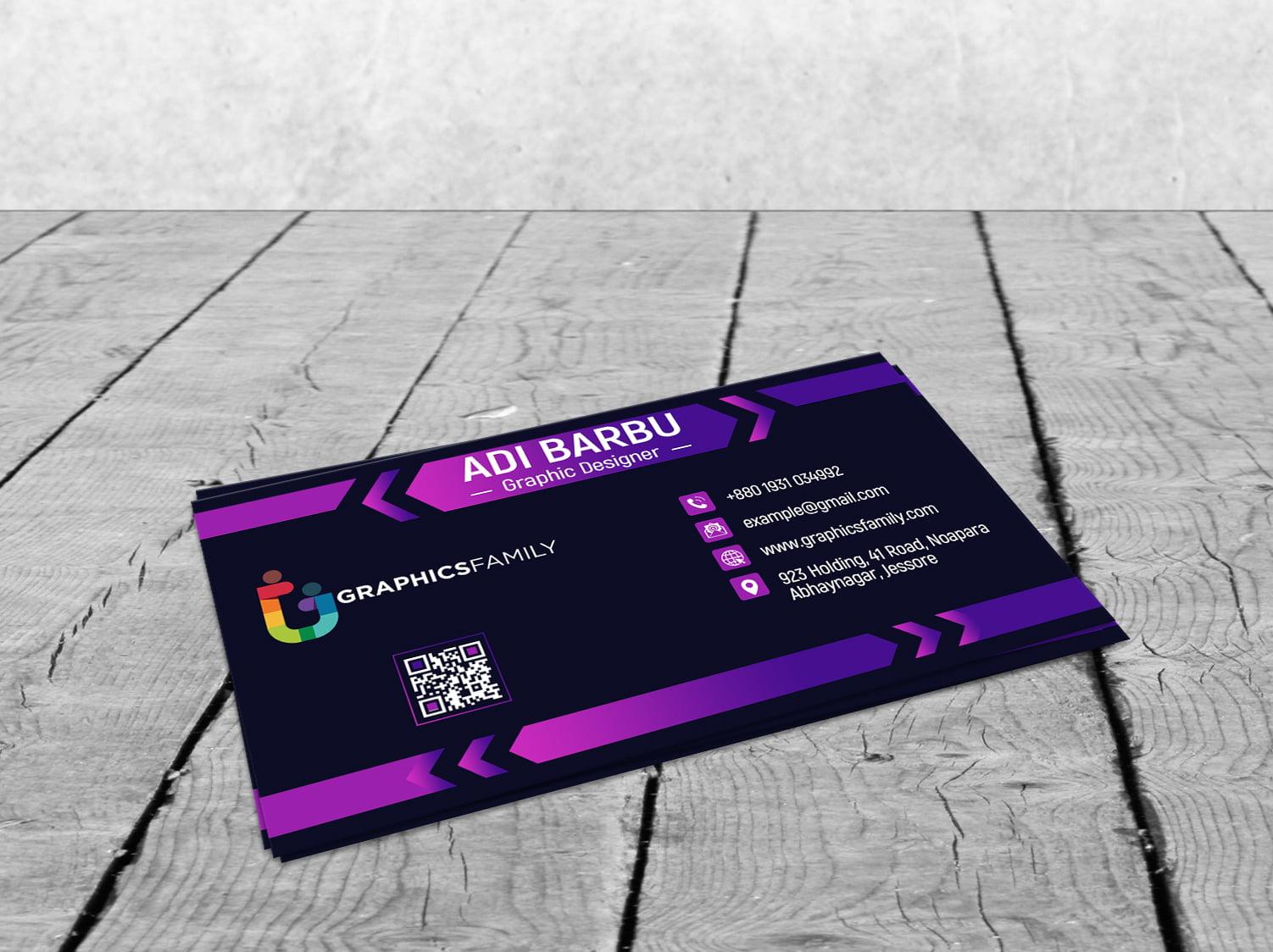 Free Download Elegant Dark Business Card Design