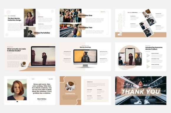 Free Download Menize Creative Studio Editable PowerPoint Template