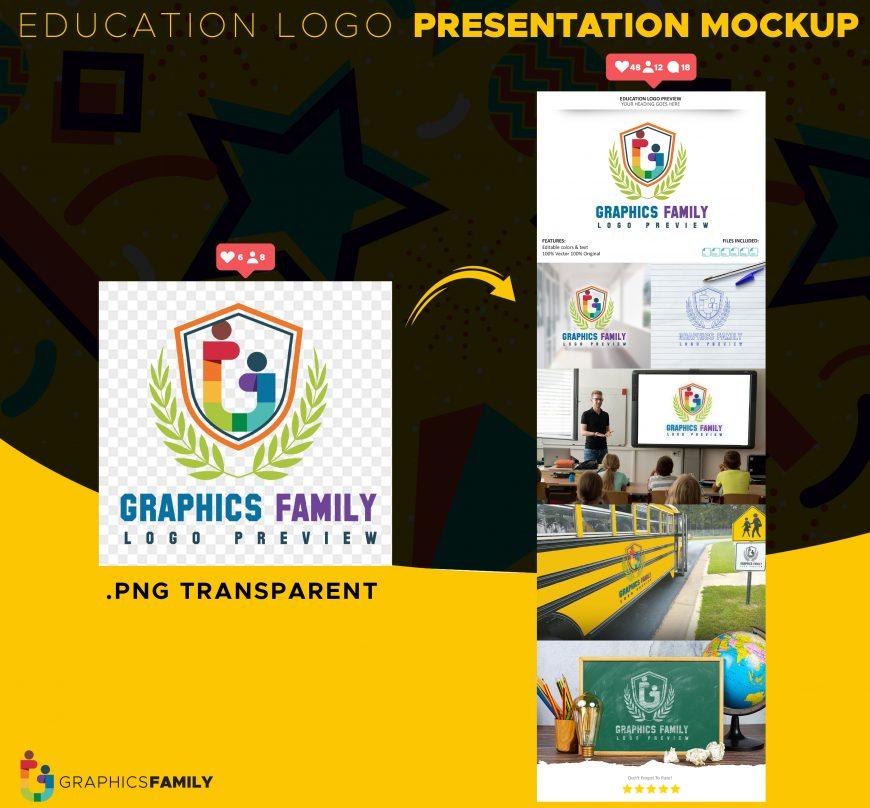 Free-Education-Logo-Presentation-Mockup