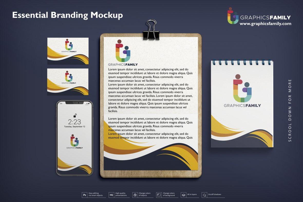 Free Essential Branding Mockup PSD Download