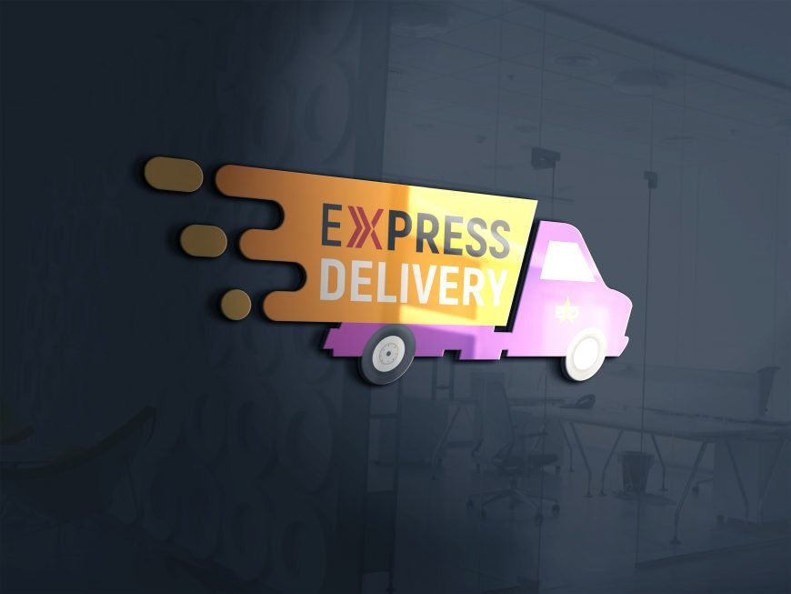 Free Express Delivery Logo Design Psd