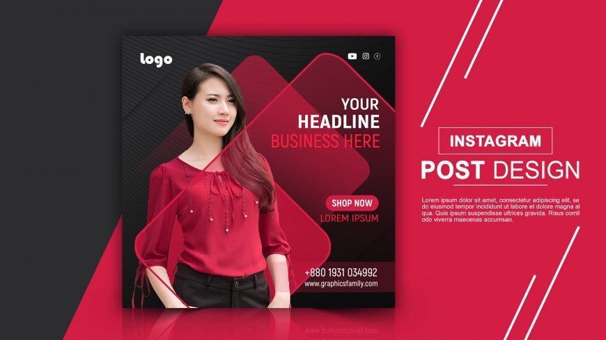 Free Fashion Instagram Post Template PSD