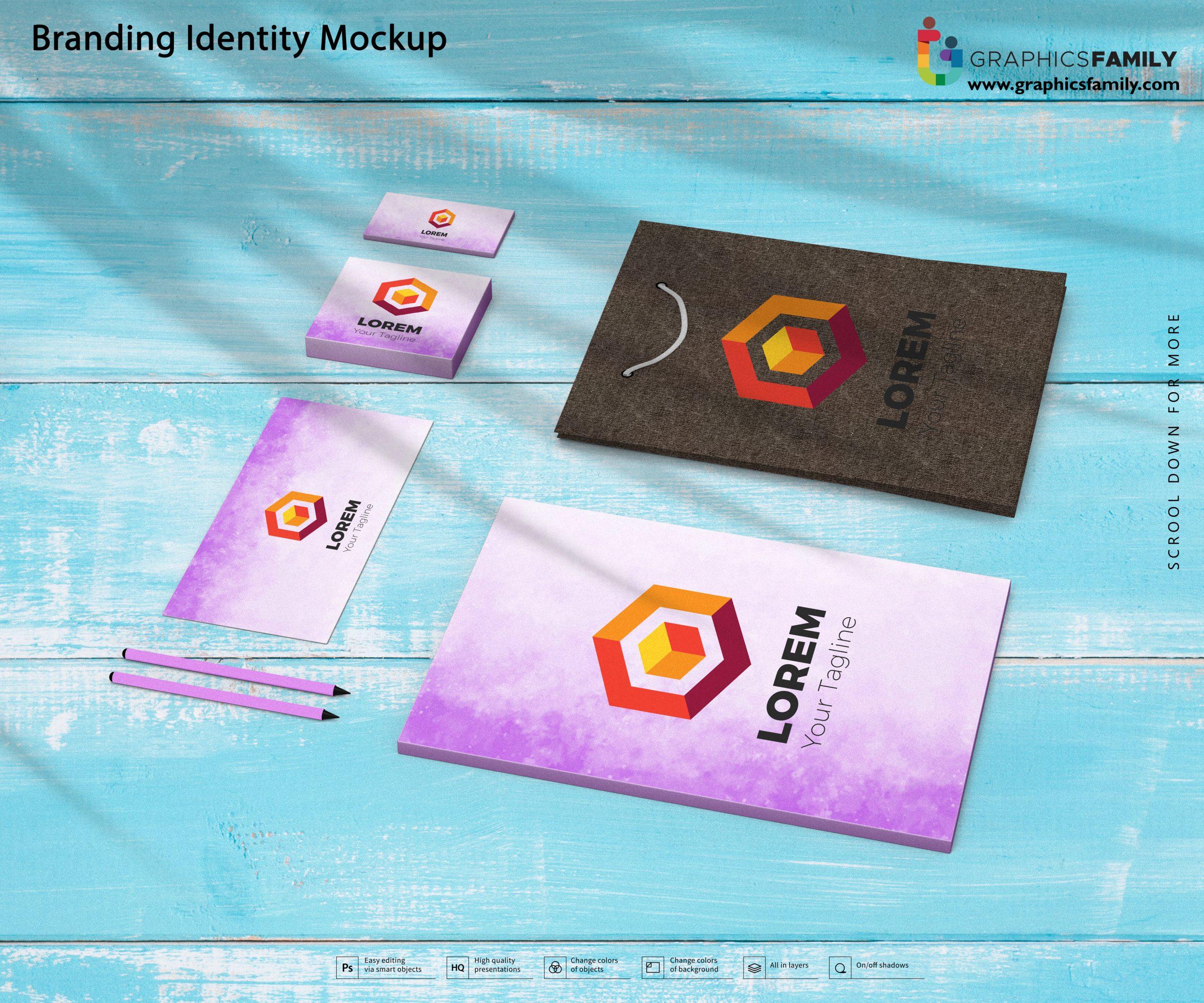 Free High-Quality Branding Identity Mockup PSD Download