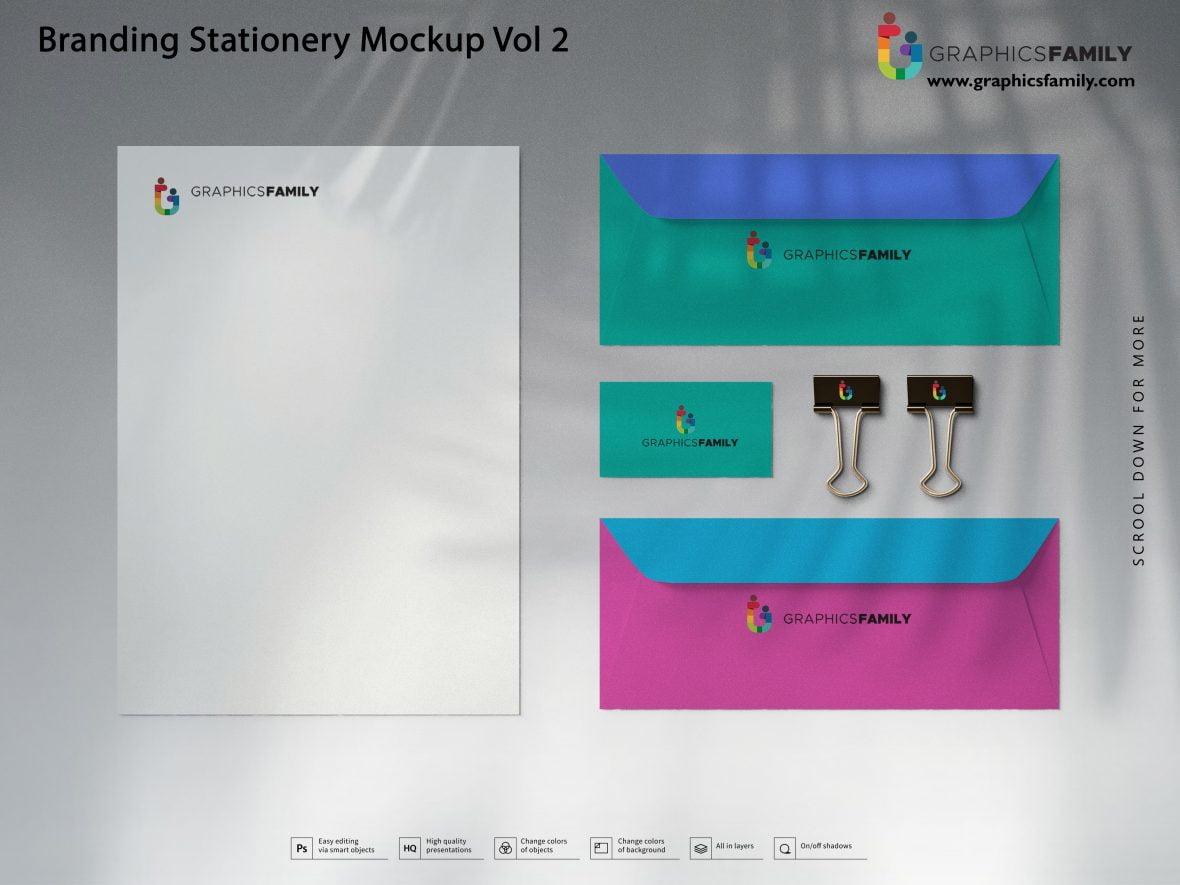 Free Impressive Branding Stationery Mockup