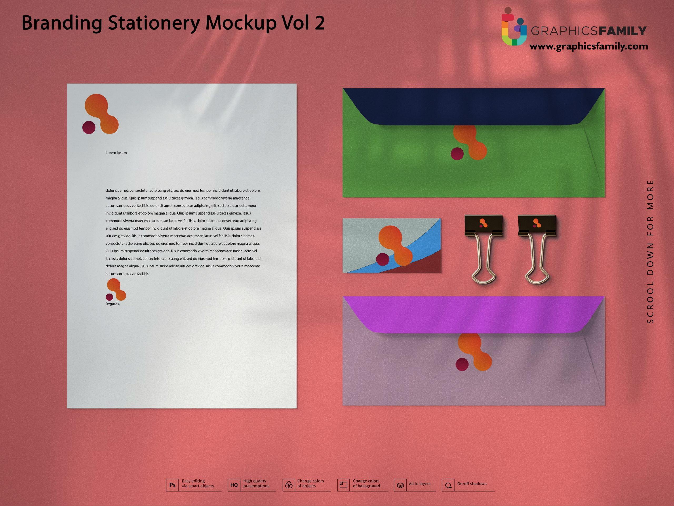 Free Impressive Branding Stationery Mockup Free PSD Download
