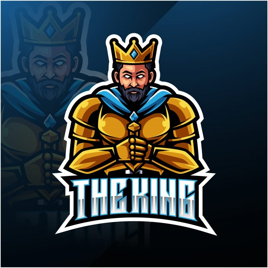 Free King Mascot Logo