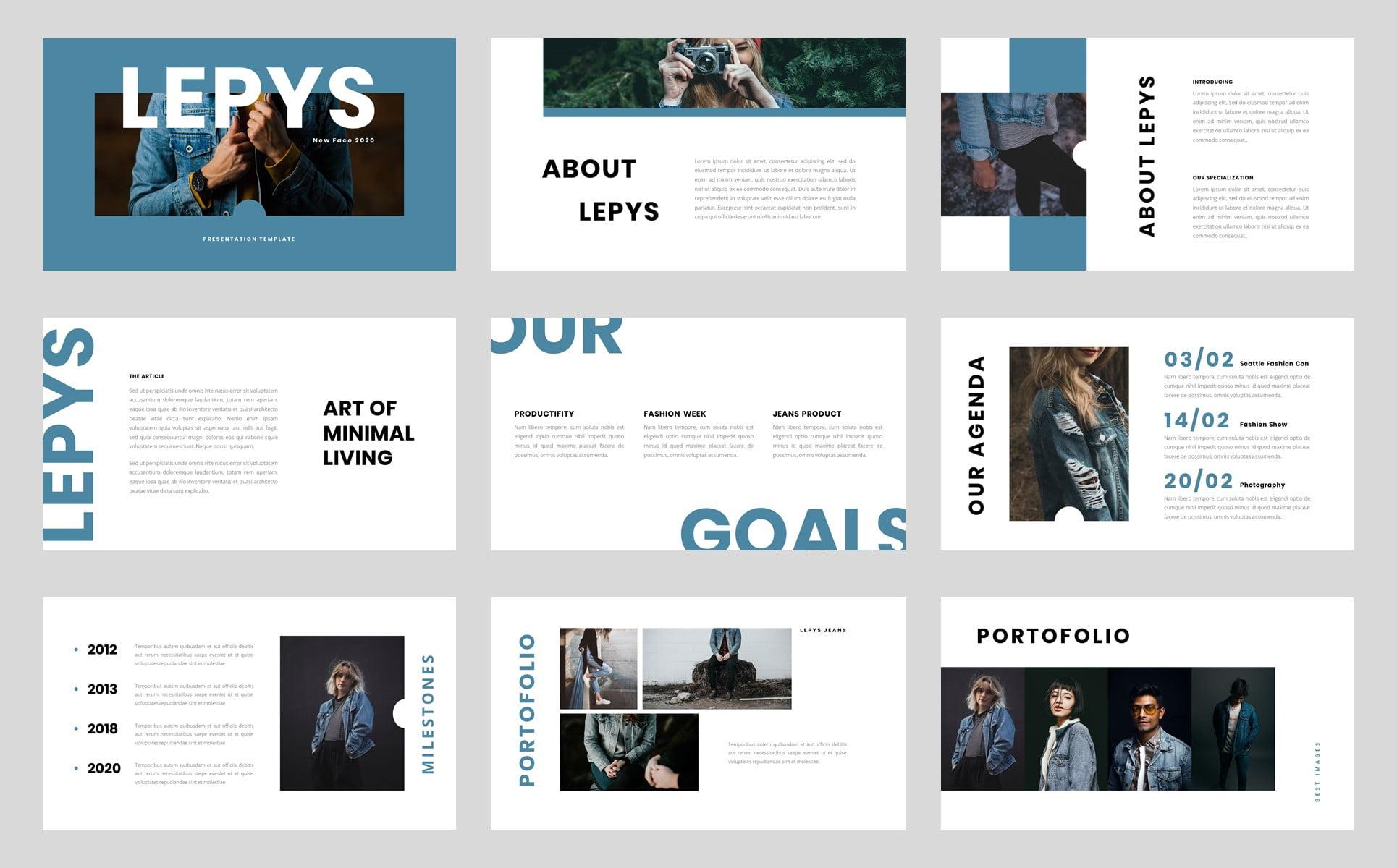 Free Lepys Editable Business Presentation PowerPoint Template