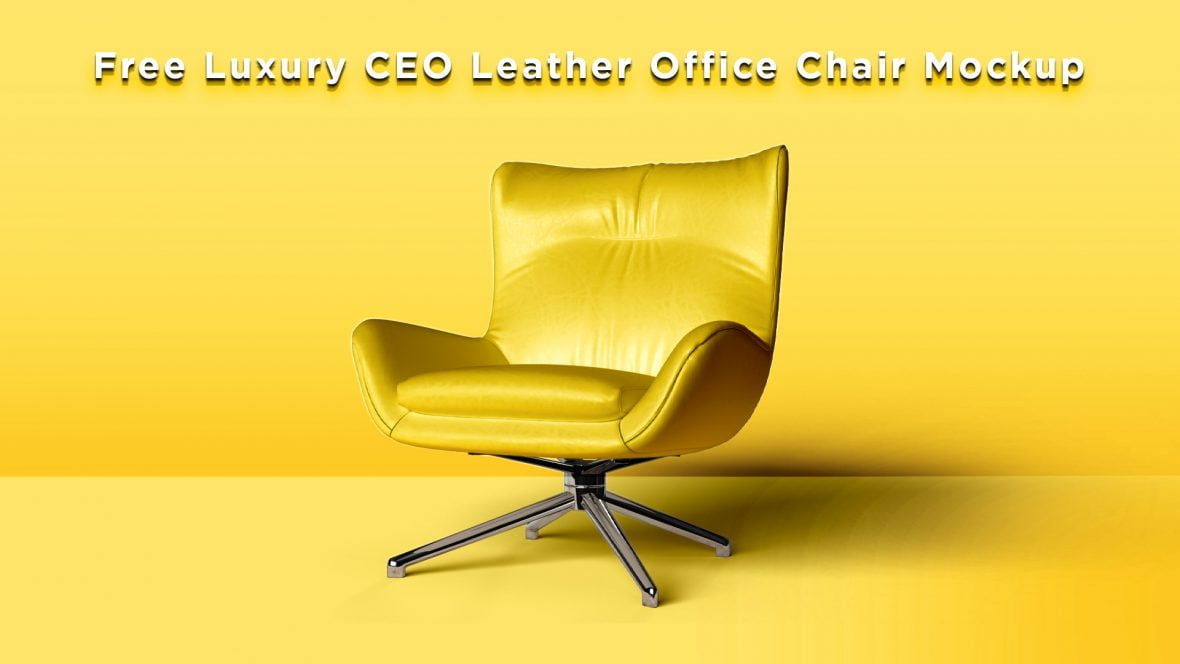 Free Luxury CEO Leather Office Chair Mockup by GraphicsFamily