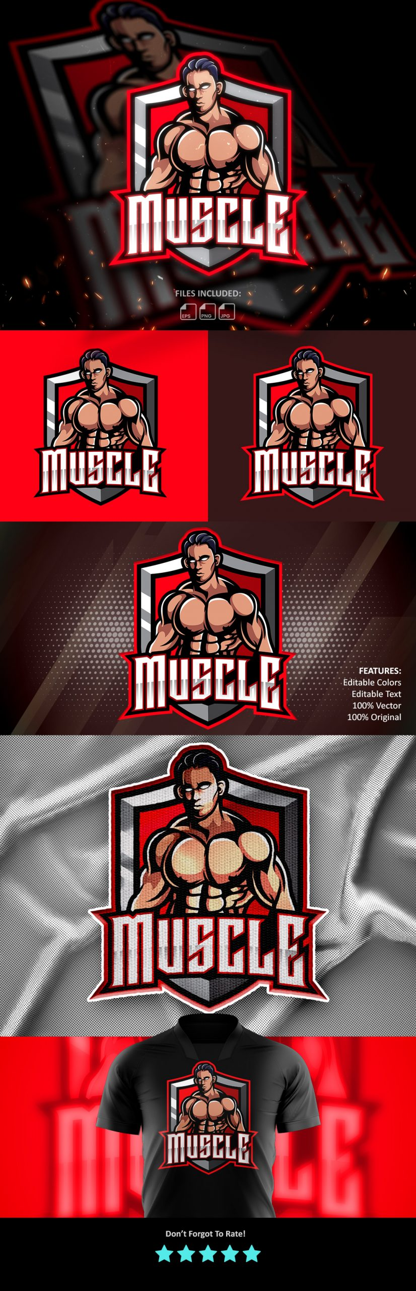 Free-Muscle-Fighter-Esports-Mascot-Logo-Download