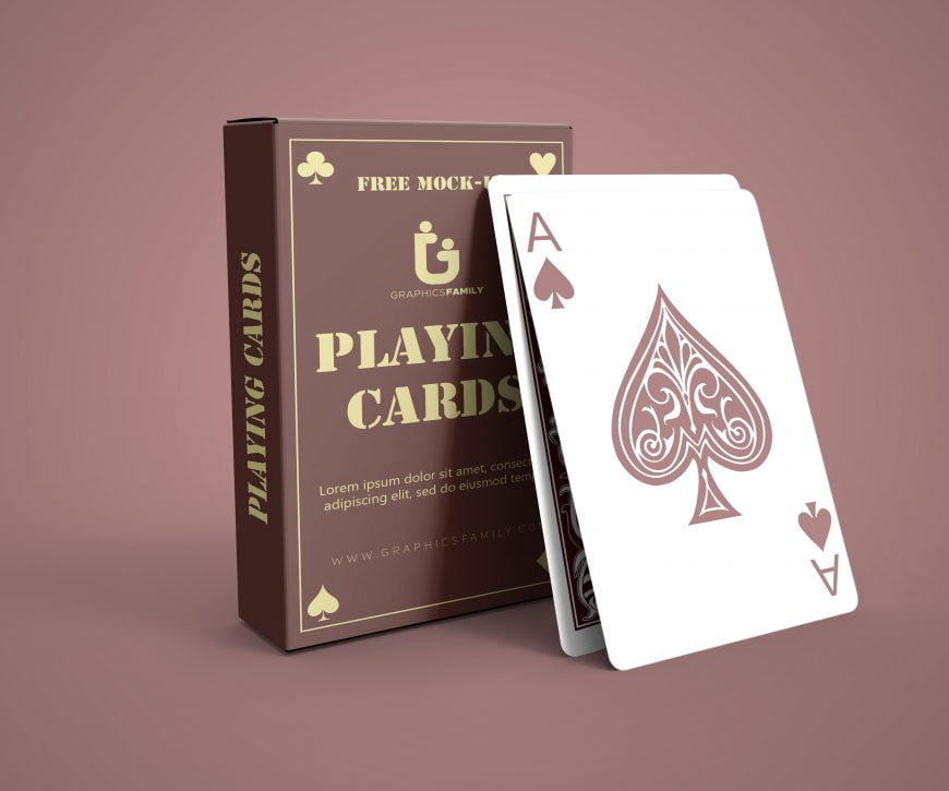 Free Photoshop Pack of Cards Mockup by GraphicsFamily